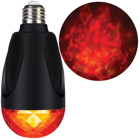 Fire & Ice Light Bulb - Red-Yellow - Willow Manor Shop