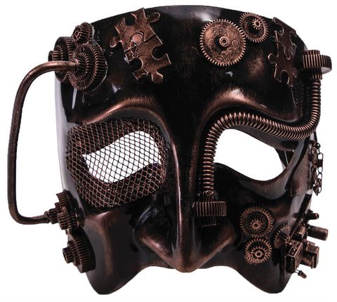 Steampunk Male Bronze Mask - Willow Manor Shop