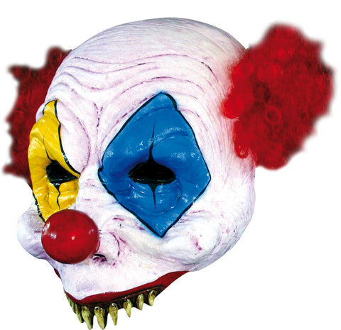 Open Gus Clown Latex Mask - Willow Manor Shop