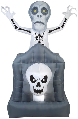 6 Ft Pop-Up Ghost Inflatable - Animated - Willow Manor Shop