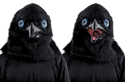 Animated Raven Mask - Willow Manor Shop