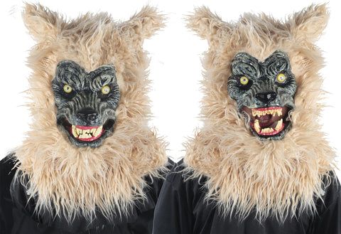 Animated Blonde Werewolf Mask - Willow Manor Shop