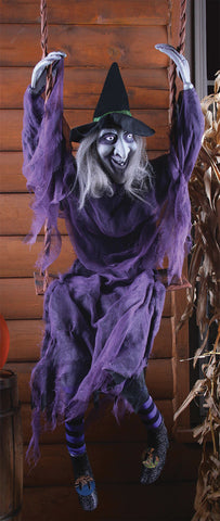 5 Ft Swinging Witch - Static - Willow Manor Shop