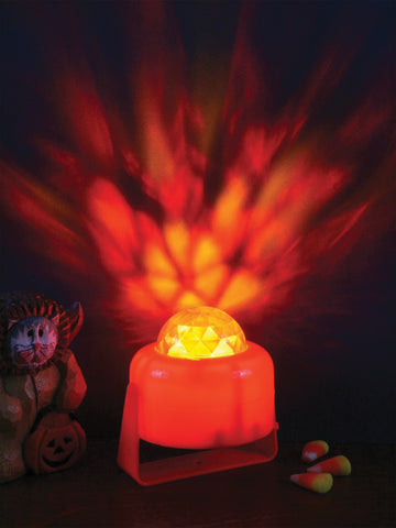 Pumpkin Flaming Light - Willow Manor Shop