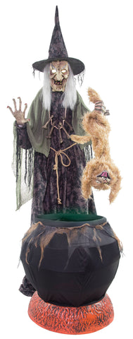 Cat-tastrophe Witch - Animated - Willow Manor Shop