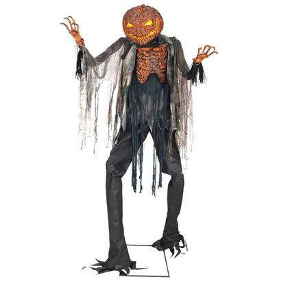 7 Ft Scorched Scarecrow - Animated - Willow Manor Shop