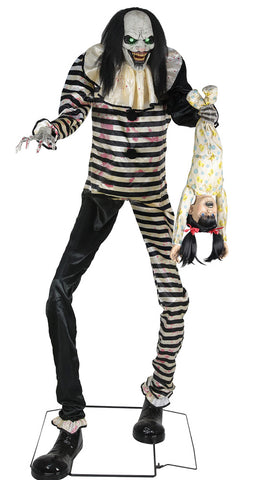 7 Ft Sweet Dreams Clown - Animated - Willow Manor Shop