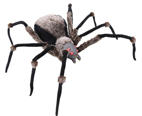 "Giant 53"" Spider - Lighted Eyes - Willow Manor Shop"