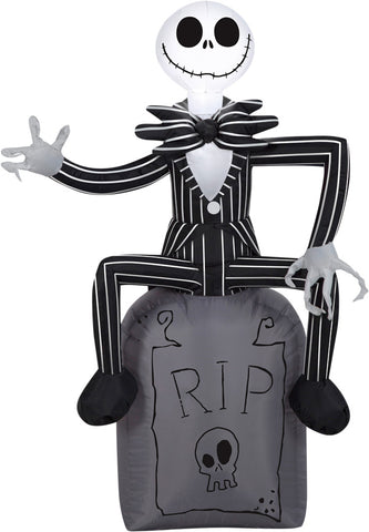 "42"" Jack Skellington - Inflatable - Willow Manor Shop"