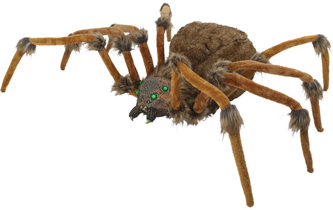 "53"" Brown Wolf Spider - Lighted Eyes - Willow Manor Shop"