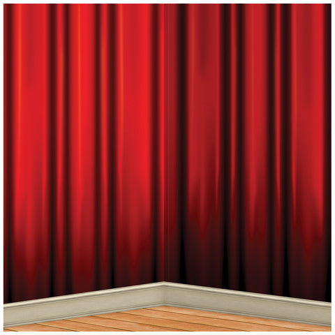 Red Curtain Backdrop 4 X 30 Ft - Willow Manor Shop