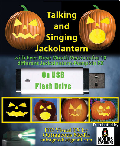Jack O Lantern Talking Digital Decor