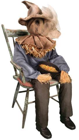 Sitting Scarecrow - Animated - Willow Manor Shop