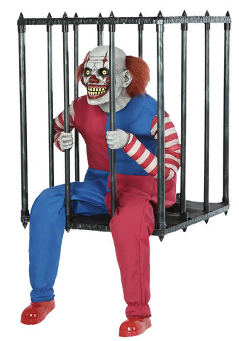 Caged Clown Walk Around - Animated - Willow Manor Shop
