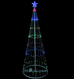 12' LED Show Cone Outdoor Tree - Multi Color - Willow Manor Shop