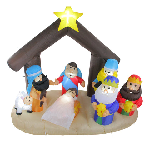 5.5' Nativity Scene Inflatable - Lighted