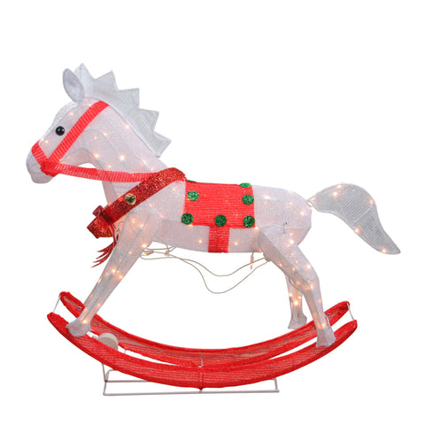 3 Ft Rocking Horse - Lighted - Willow Manor Shop