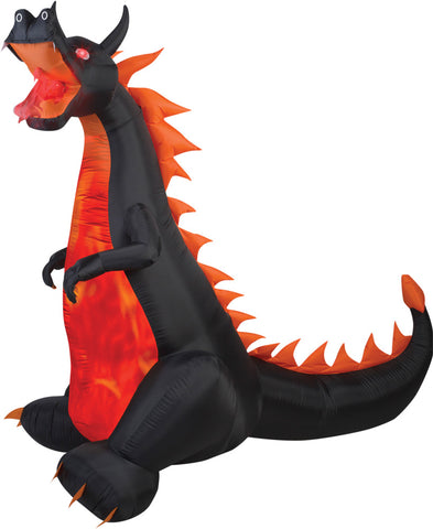 7 Ft Fire & Ice Dragon Inflatable - Willow Manor Shop