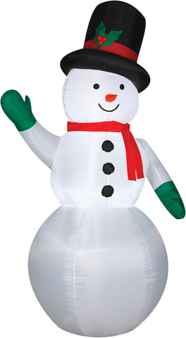 7 Ft Classic Snowman Inflatable - Lighted - Willow Manor Shop