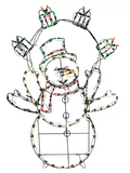 "42"" Snowman Juggling Gifts - Animated"