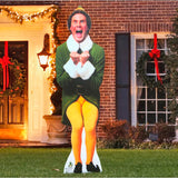 6 Ft Photo-Realistic Buddy the Elf Inflatable - Lighted - Willow Manor Shop