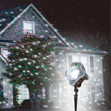 White Red & Green Laser Light Falling Snow Projector - Willow Manor Shop