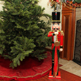 3 Ft Wooden Nutcracker Soldier with Banner