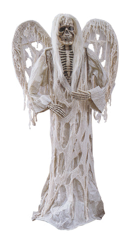 6 Ft Angel of Death - White - Willow Manor Shop