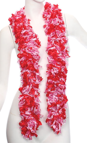 "72"" Featherless Boa Scarf Red & Pink"