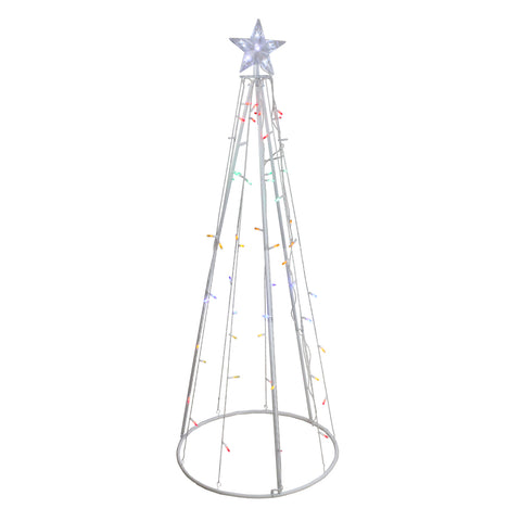5' LED Show Cone Outdoor Tree - Multi Color