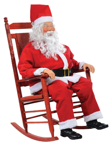 Life Size Rocking Santa - Animated - Willow Manor Shop