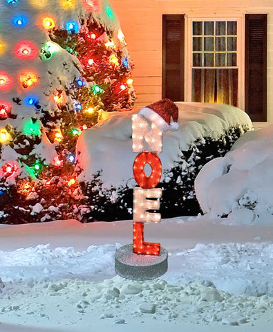 "41"" Noel Sign Lighted - Animated"