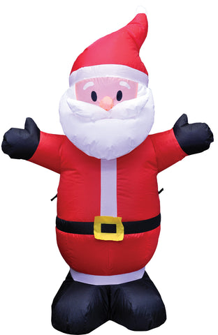 4 Ft Santa Inflatable - Lighted - Willow Manor Shop