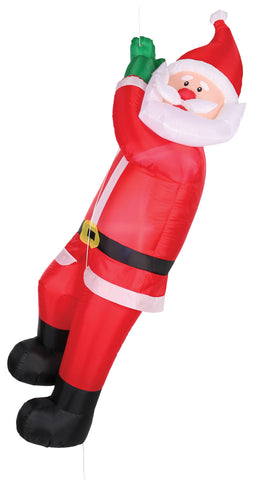 6 FT LIGHTED INFLATABLE CLIMBING SANTA - Willow Manor Shop