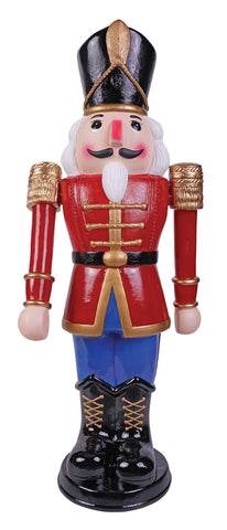 3 Ft Marching Nutcracker Blue - Animated - Willow Manor Shop