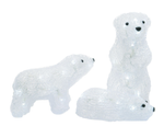 Set of 3 Acrylic Baby Polar Bears - Lighted