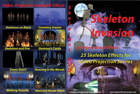 Skeleton Invasions - Projection DVD - Willow Manor Shop