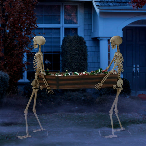 Skeletons Carrying Coffin - Willow Manor Shop