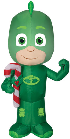 "42"" PJ Masks Gekko Inflatable - Lighted - Willow Manor Shop"