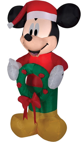 "42"" Mickey Christmas Inflatable - Lighted - Willow Manor Shop"