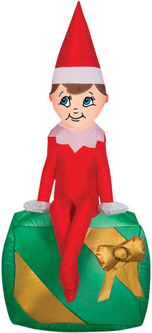 "42"" Elf On A Shelf Christmas Inflatable - Lighted - Willow Manor Shop"