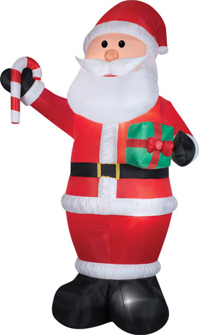 12 Ft Santa Inflatable - Lighted - Willow Manor Shop