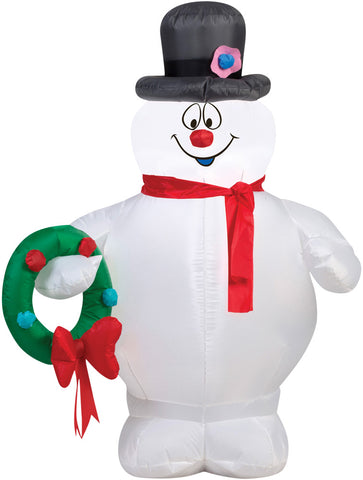 "42"" Frosty the Snowman Inflatable - Lighted - Willow Manor Shop"