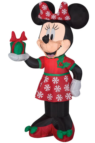 "42"" Minnie Mouse Christmas Inflatable - Lighted - Willow Manor Shop"