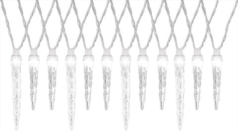 SYNCHRO ANIMATED LED ICICLE LIGHTS WHITE - Willow Manor Shop