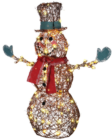LED Starry Night Lighted Grapevine Snowman