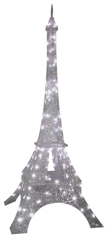 82 inch TALL SPARKLE LIGHTED EIFFEL TOWER - Willow Manor Shop