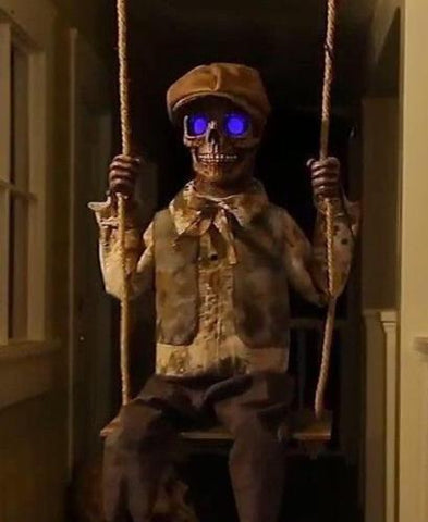 Swinging Skeleton Boy - Animated - Willow Manor Shop