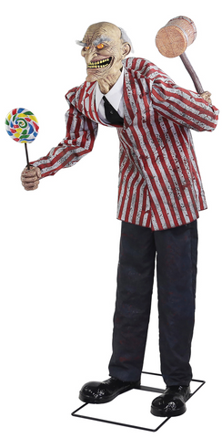 6.5 Ft Candy Creep Clown - Animated - Willow Manor Shop