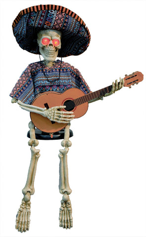 "40"" GUITAR PLAYING SKELETON Animated - Willow Manor Shop"